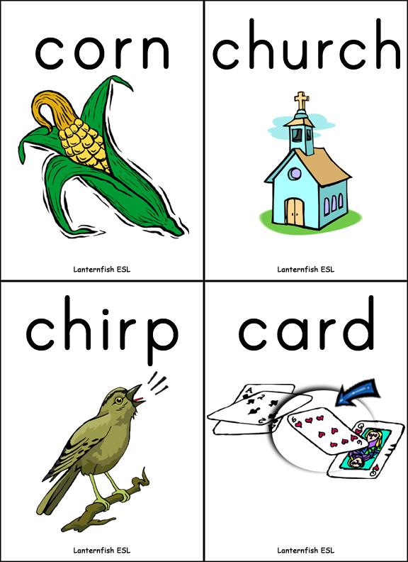 rcontrolled vowel flashcards