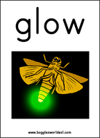 Sample Vowel Digraph Card: GLOW