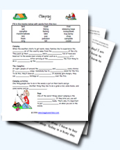 Camping and the Outdoors Worksheets