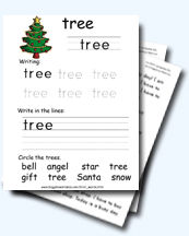 Christmas Spelling Words.First Words Christmas Spelling Worksheets