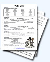 image relating to Winter Trivia Questions and Answers Printable referred to as Winter season Worksheets